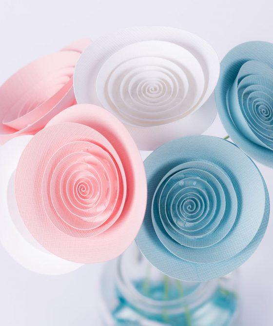 """Fiori di carta – Mazzo """"Di rosa e di azzurro"""""""
