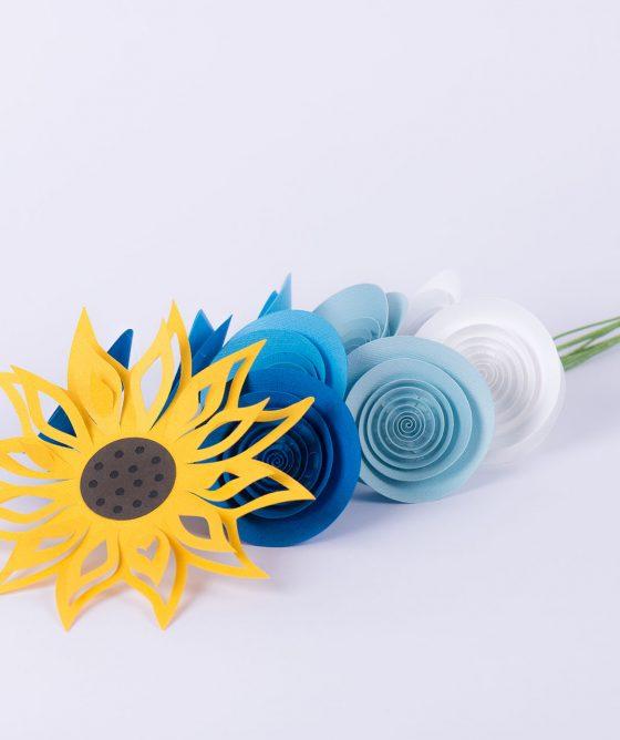 "Fiori di carta – Mazzo ""Cielo blu d'estate"""