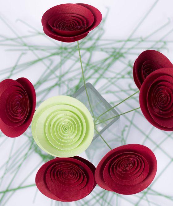 """Fiori di carta – Mazzo """"Rosa verde"""""""